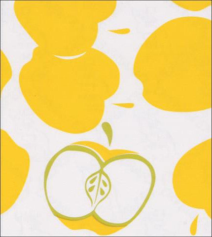 Yellow Apples Oilcloth Fabric