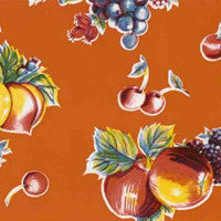 Orange Pears and Apples Oilcloth by the Yard