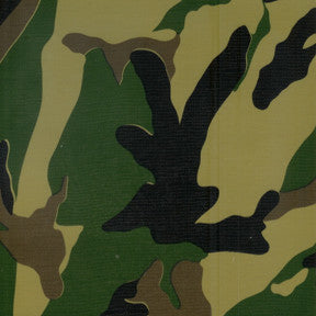 Green Camouflage Oilcloth Fabric