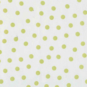 Lime Green Polka Dot Oilcloth Fabric