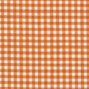 Orange Gingham Oilcloth Fabric