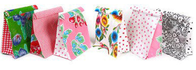 Oilcloth Lunch bag with velcro closure