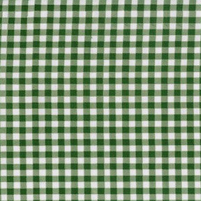 Forest Green Gingham Oilcloth Fabric