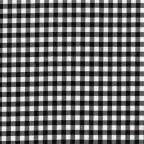 Black Gingham Oilcloth Fabric