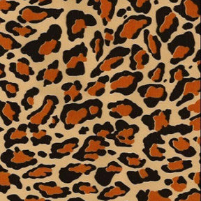 Orange Cheetah Oilcloth Fabric