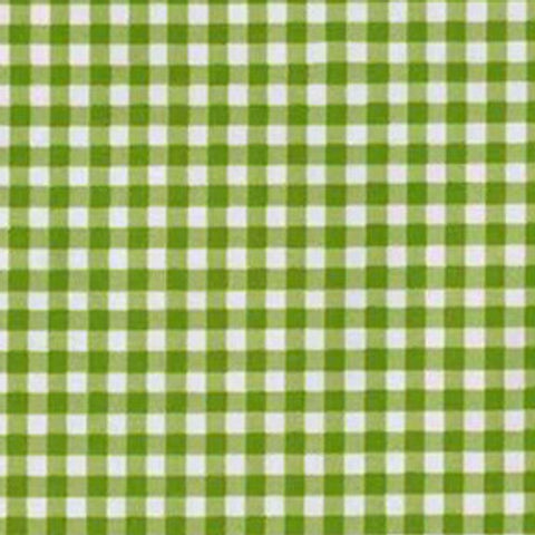 Lime Green Gingham Oilcloth Fabric
