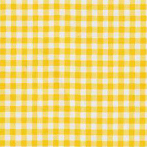 Yellow Gingham Oilcloth Fabric