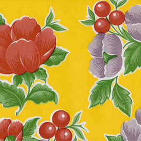 Yellow Poppy Oilcloth Fabric