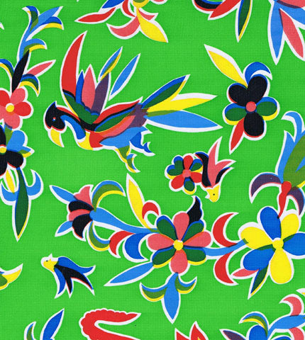 Green Oaxaca Oilcloth Fabric