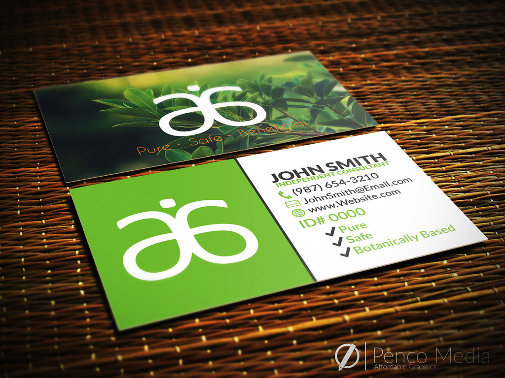 custom arbonne business card design #3