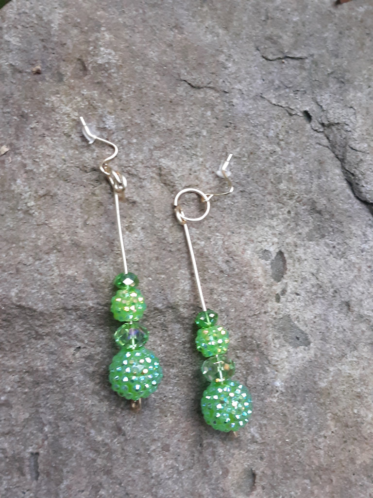 Green Diva Earrings