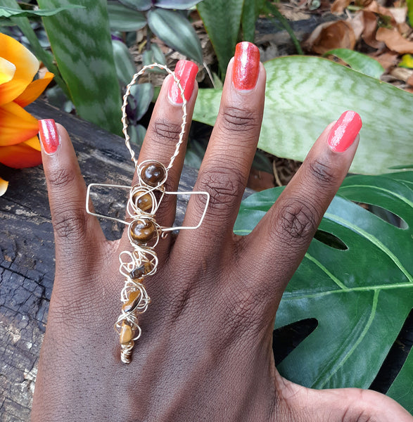 Ankh Life Tiger Eye Ring