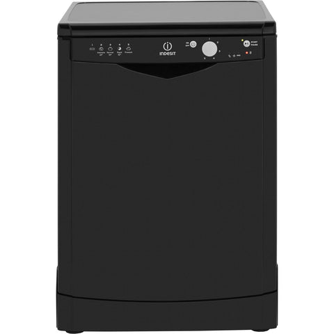 Indesit Ecotime DFG15B1K 60cm Dishwasher - Black