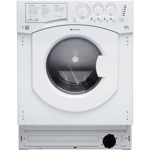 Hotpoint Aquarius BHWD1291 - Integrated Washer Dryer - White