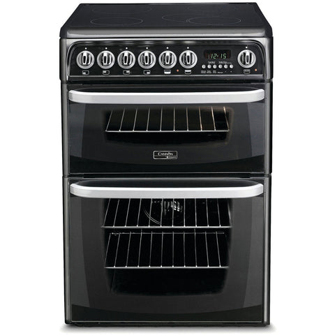 Cannon By Hotpoint CH60EKK S Cooker - Black