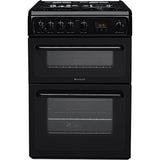 HOTPOINT HAG60K 60cm Gas Double Oven - Black