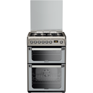 Hotpoint Ultima HUD61X S 60cm Dual Fuel Freestanding Cooker - Stainless Steel