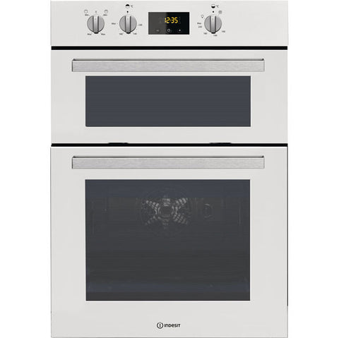 Indesit Aria IDD6340WH Built In Double Oven - White
