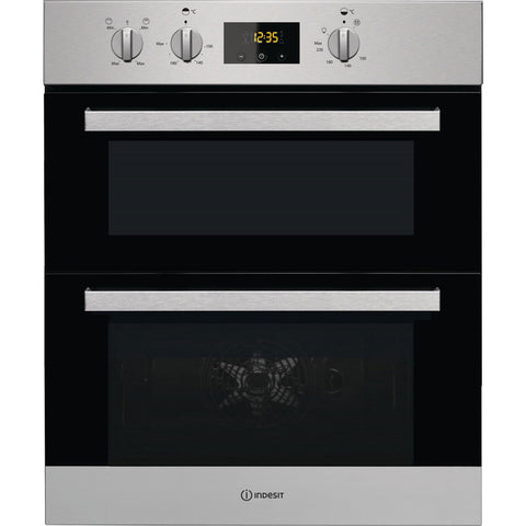 Indesit Aria IDU6340IX Built Under Double Oven - Stainless Steel