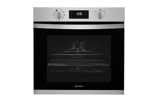 Indesit Aria IFW3841PIX Electric Single Built In Oven - Stainless Steel