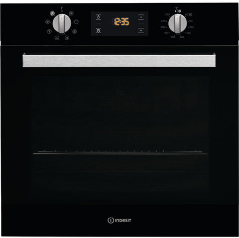 Indesit Aria IFW6340BL Built In Electric Single Oven - Black