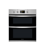 Indesit Aria KDU3340IX Electric Built Under Double Oven - Stainless Steel