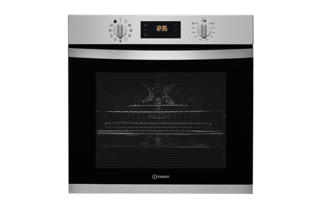 Indesit Aria KFW3844HIX Electric Single Built In Oven - Stainless Steel