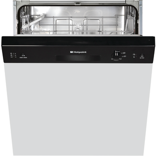 Hotpoint Aquarius LSB 5B019 B Semi Integrated Built-in Dishwasher - Black