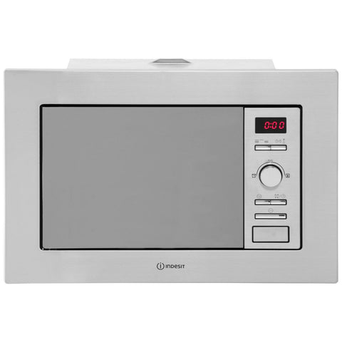 Indesit MWI1221X Built In Microwave With Grill - Stainless Steel