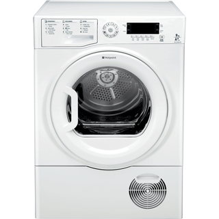 Hotpoint Ultima S-Line SUTCD GREEN 9A1 9kg Condenser Tumble Dryer - White