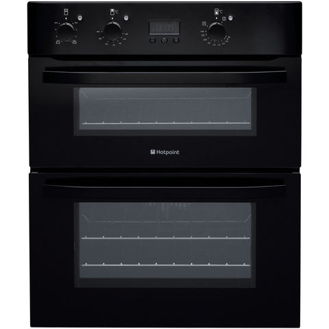 HOTPOINT UHB83JK Built Under Double , Main Fan Oven with 8 functions and ' Push Push ' knobs