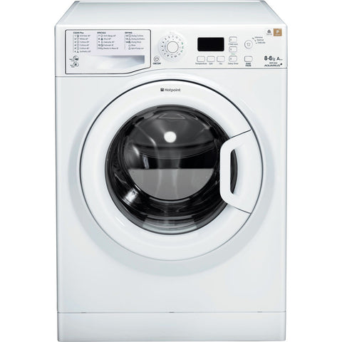 HOTPOINT WDPG8640P 1400 Spin Aquarius + 8KG Washer 6KG Dryer - White