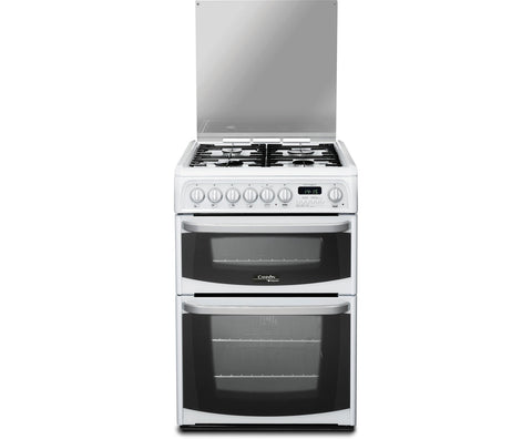 Cannon by Hotpoint Harrogate CH60DHWFS Dual Fuel Cooker - White