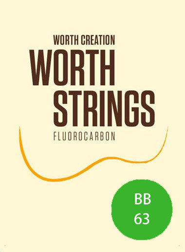 Worth Ukulele Strings Brown Fluoro-Carbon Baritone Uke 63 inch - Ukunili Ukulele