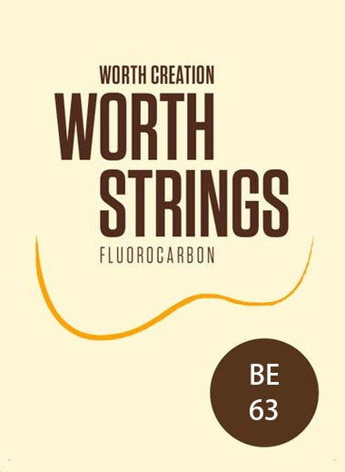 Worth Ukulele Strings Brown Fluoro-Carbon Extra BE 63 inch - Ukunili Ukulele