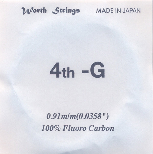 Worth Ukulele Strings Clear Fluoro-Carbon C-LGEX 46 inch Single String - Ukunili Ukulele