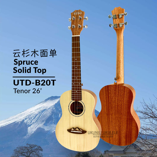 TODO Ukulele 26' Tenor Spruce Solid Top