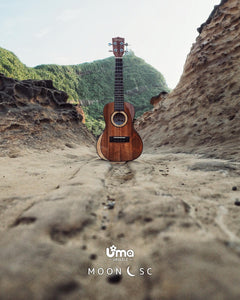 Uma Ukulele 23' Concert Solid Mahogany & Maple Top  UMA UK-MoonSC