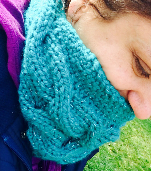 Cabled Headband Cowl Pattern (digital download)