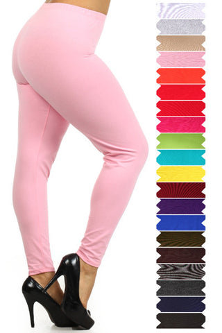Buxom & Smaller Made in USA Cotton/Spandex Leggings