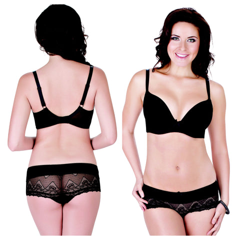Bras & Panties: The Casey Bra Black 30D/36C to 44F