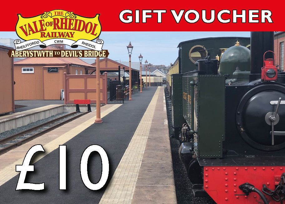 £10 Gift Voucher for Vale of Rheidol railway - The Vale of Rheidol Railway