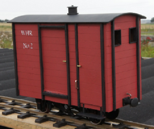 NWNGR Goods Brake No2 Wagon Kit Ip engineering garden railway kit 32mm 45mm