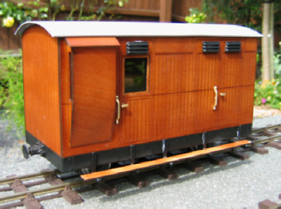 Vale of rheidol matchboard guards van IP engineering 32mm 45mm LGB SM32 - The Vale of Rheidol Railway