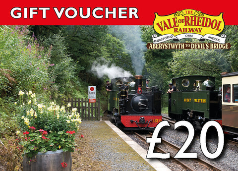 £20 Gift Voucher for Vale of Rheidol railway - The Vale of Rheidol Railway
