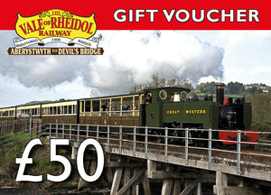 £50 Gift Voucher for Vale of Rheidol railway - The Vale of Rheidol Railway