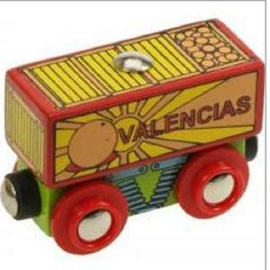 Fruit wagon Bigjigs wooden railway fits Brio - The Vale of Rheidol Railway