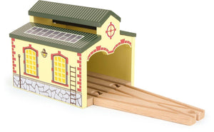 Engine shed nostalgia retro Legler smallfoot wooden train fits Brio, Bigjigs - The Vale of Rheidol Railway
