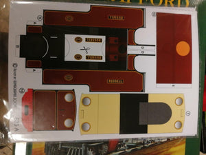Alphagraphix Welsh Highland Russell engine 7mm O gauge 1:43 card kit E35 - The Vale of Rheidol Railway
