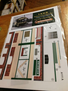 Alphagraphix platform mounted signal box Swanwick A111 7mm O gauge 1:43 card kit